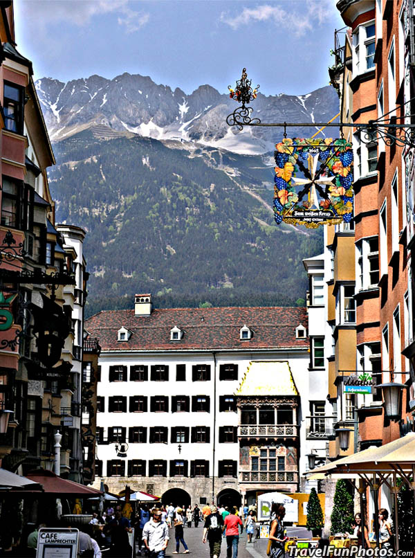 The Alps and Old City Innbruck, Austria