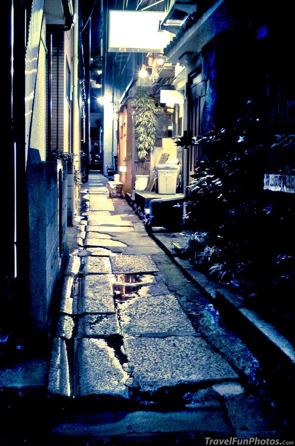 Back Alley At Night in Kagurazaka, Tokyo, Japan