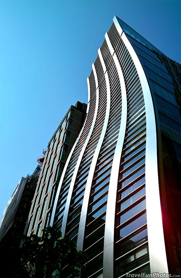 Bending Building in Ginza, Tokyo, Japan