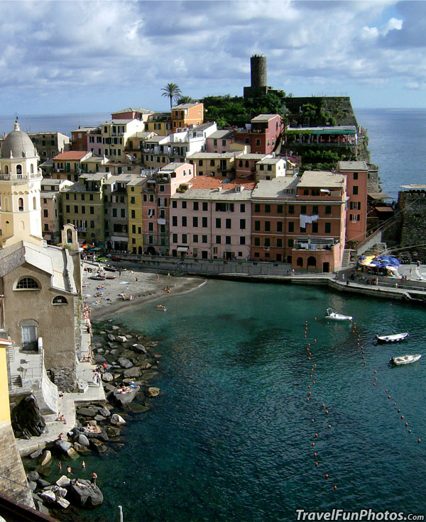 City of Vernazza in Clinque Terre, Italy