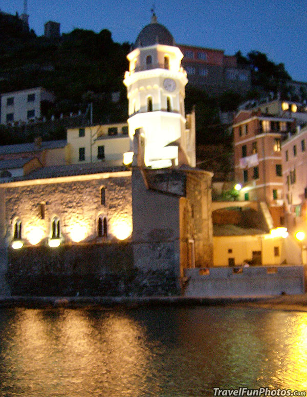 Lovely Lights of Vernazza in Clinque Terre, Italy