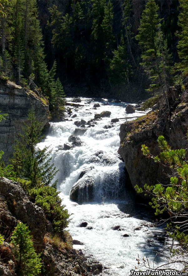 Firehole Falls, Yellowstone National Park, Wyoming -USA
