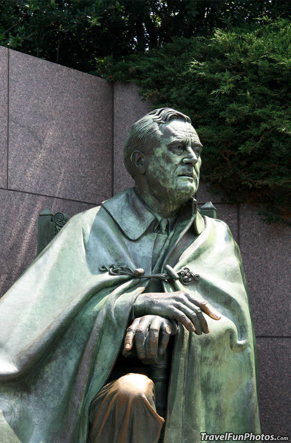 Franklin D Roosevelt Statue in Washington DC - USA