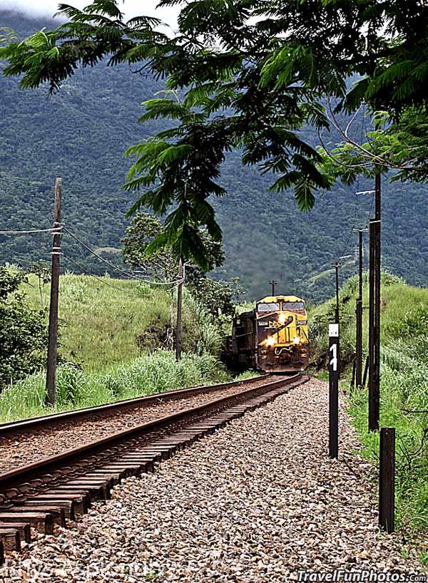Freight Train in Muriqui, Brazil