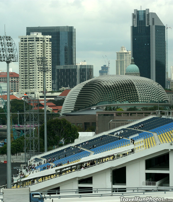 Grandstand of The Grand Prix in Singapore