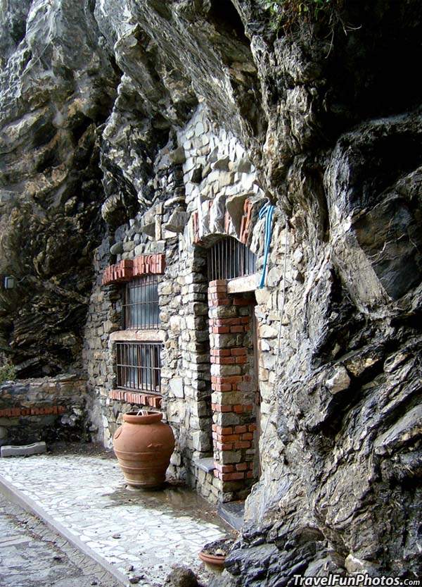 Unique House Built Into The Rock Hill in Terre, Italy