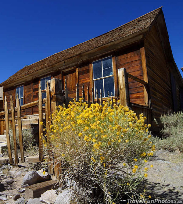 Old House in The Ghost Town in Bodie, California – USA