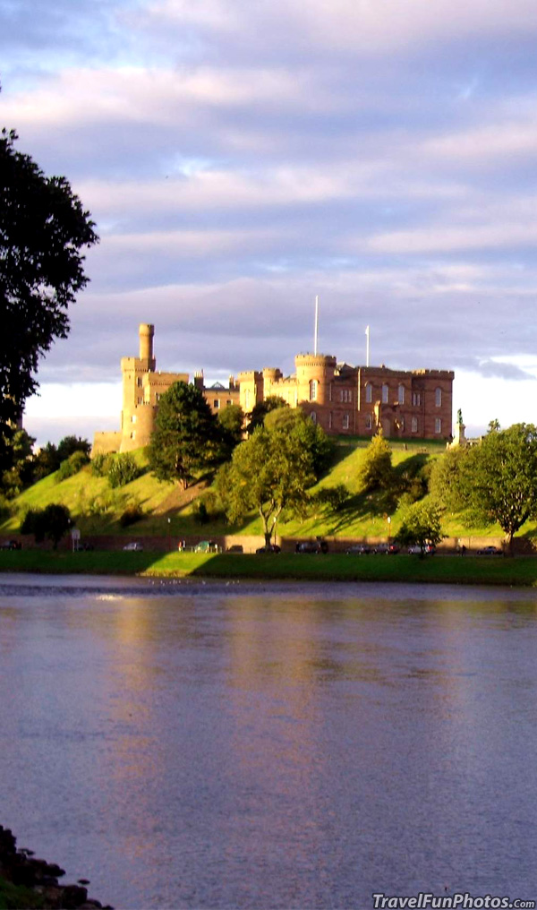 Iverness Castle and The River Ness, Scotland