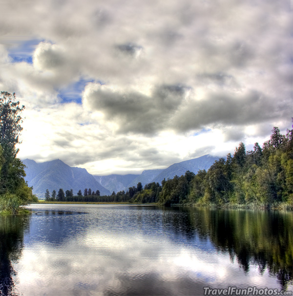 Lake Matheson, New Zealand - View From Reflection Island