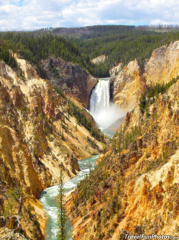 Lower Waterfalls of Yellowstone National Park, Wyoming - USA