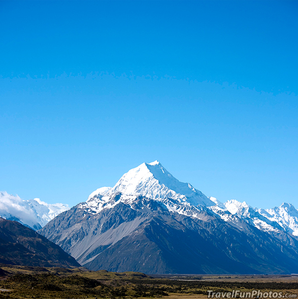 Snow Topped Mount Cook - New Zealand