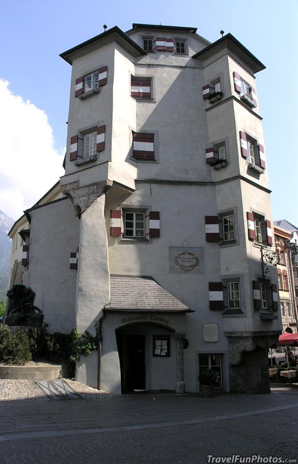 Ottoburg Restaurant in Old Town Innsbruck, Austria