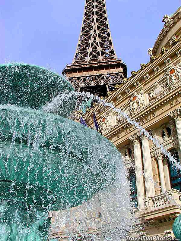 The Fountain at Eiffel Tower Courtyard, Las Vegas, Nevada – USA
