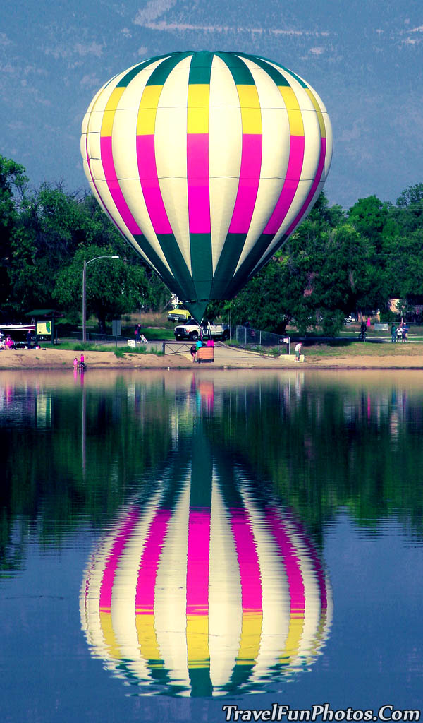 Hot Air Balloon at Prospect Lake, Colorado Springs, Colorado