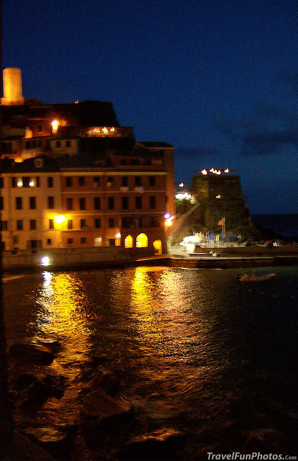 Night Time in Cinque Terre,  Italy