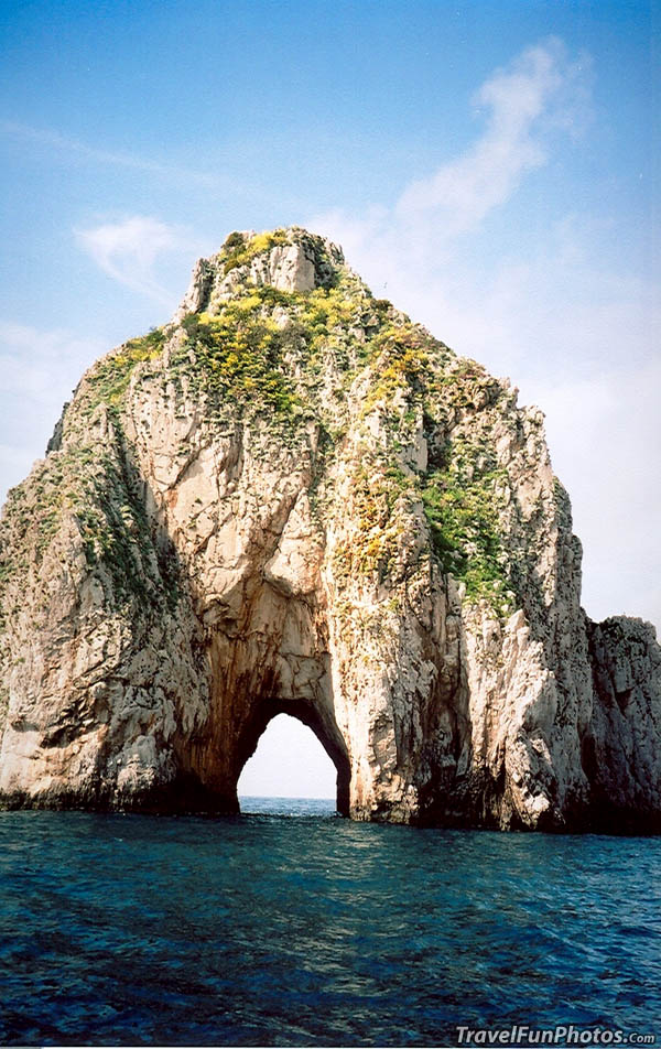 Ocean Rock Formations of Capri, Italy